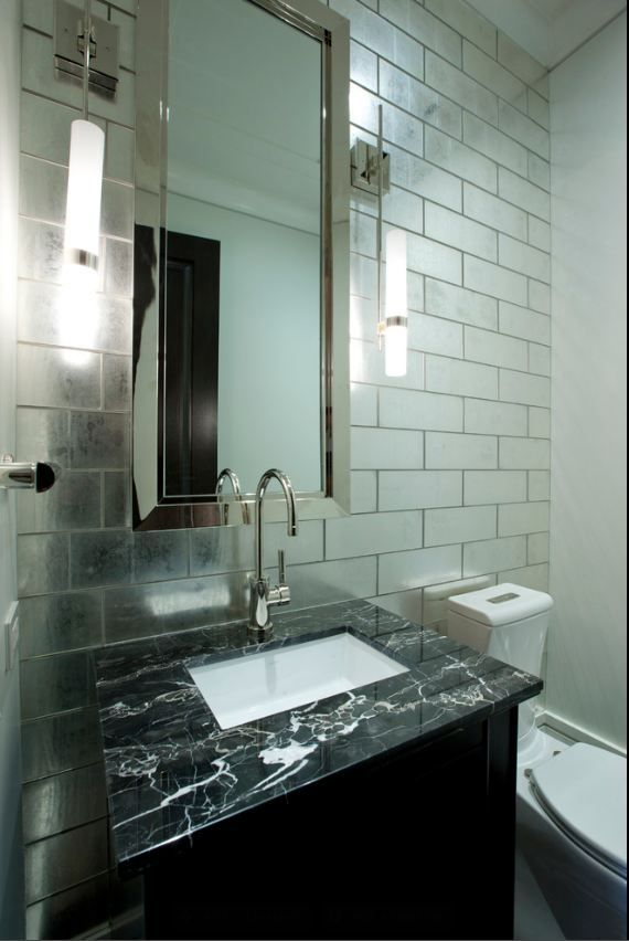 mirrors made from polished black granite applications
