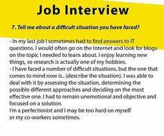 job application difficult person situation