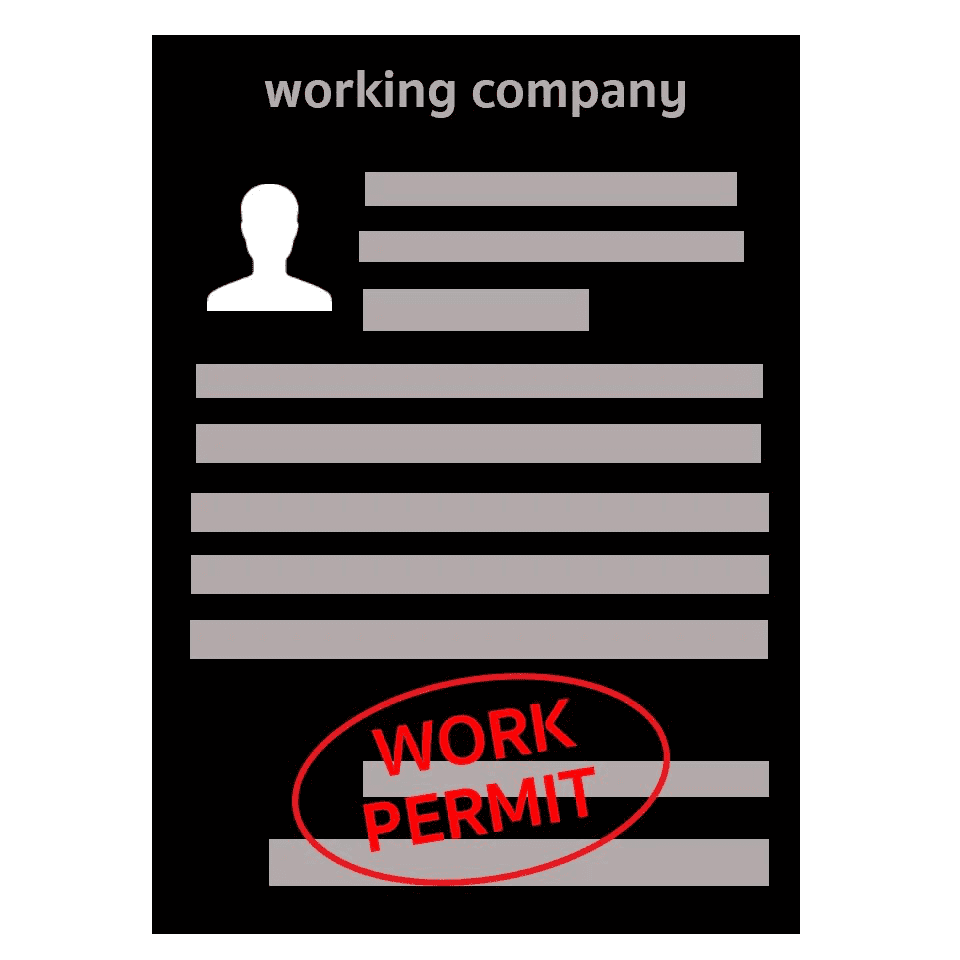 work permit application original documents or copies