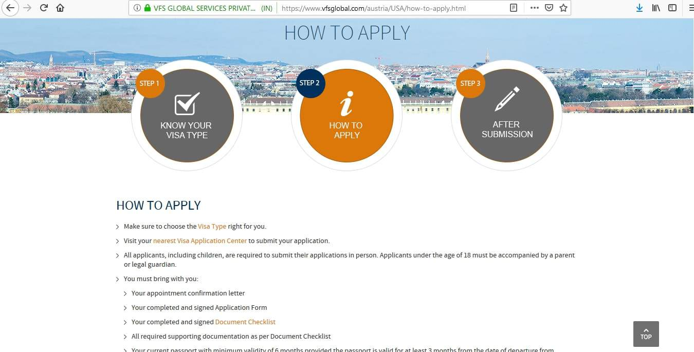 vfs global visa application appointment