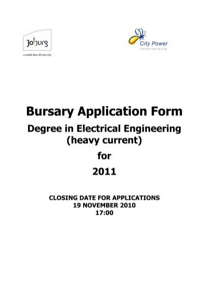 what is a bursary application