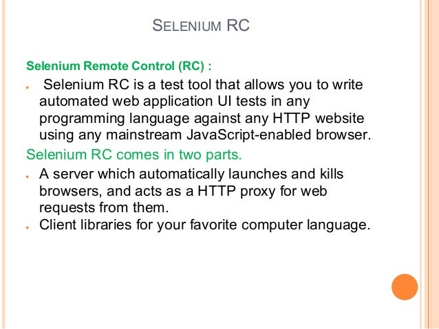 testing a web application with selenium 2