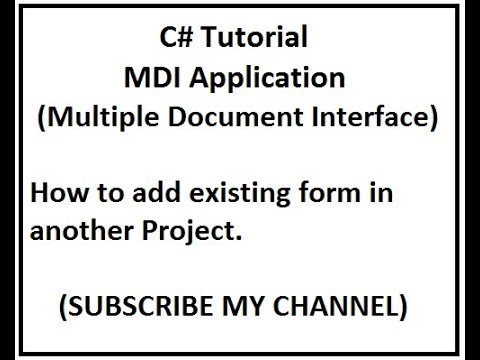 mdi application in vb code project