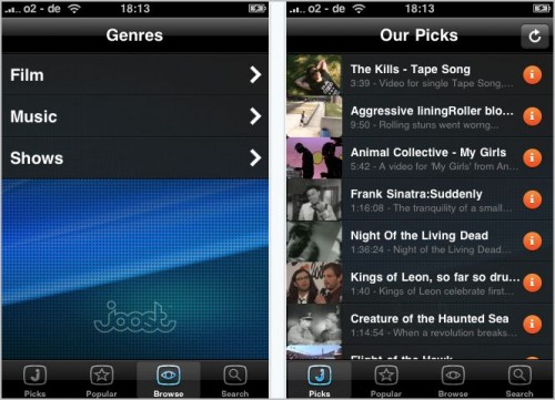 online movie application for iphone