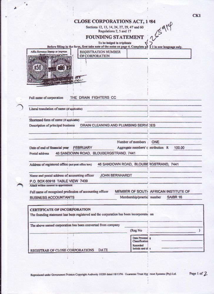 sars tax number application form