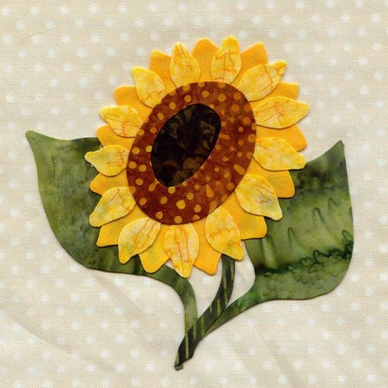 free flower applique sewing patterns