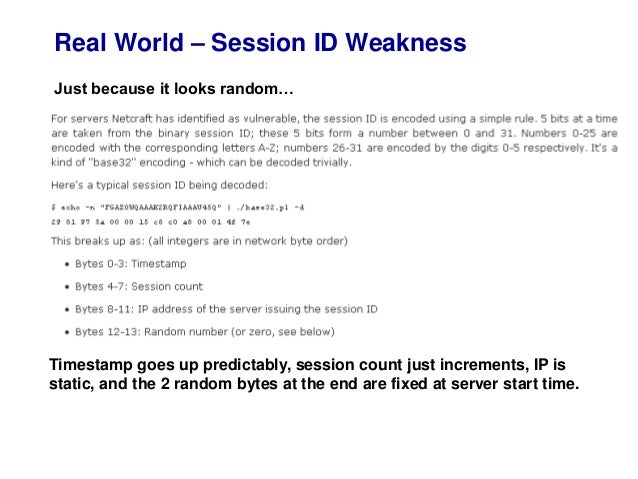 session handling in web application