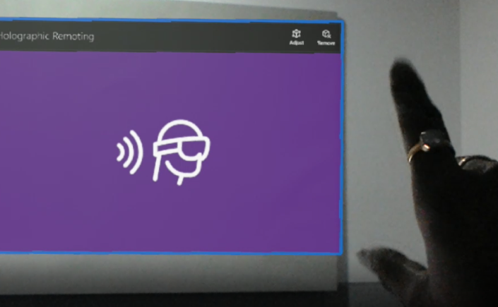 first hololens application on unity