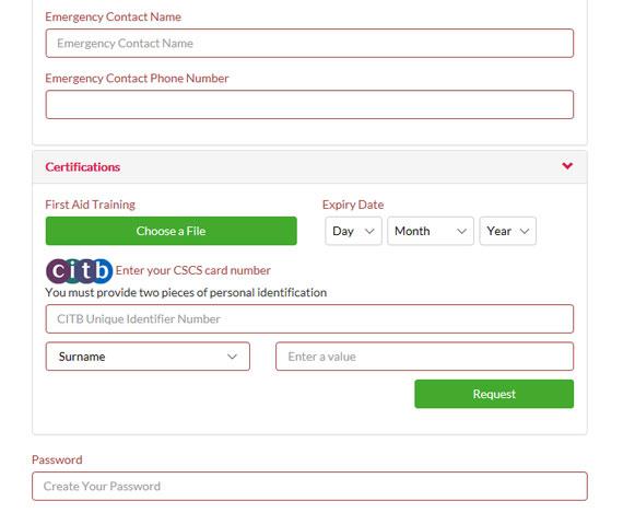 citb cscs card application form