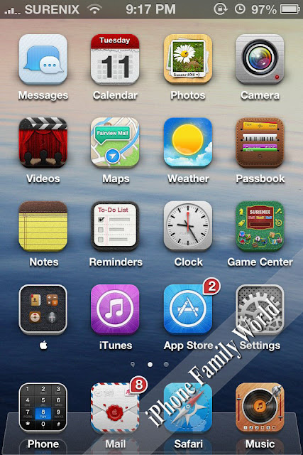 can you make folders in apple application bar