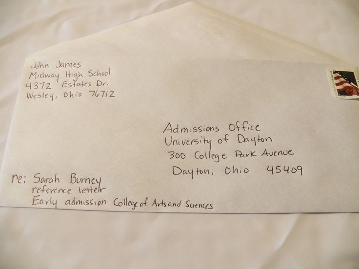 should job application letters envelope seal