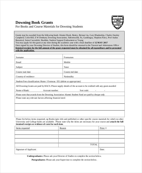 ashrae application for grant of funds