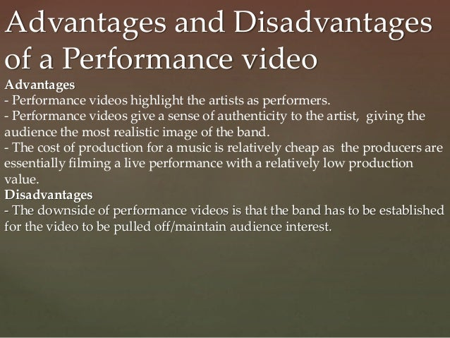 advantages and disadvantages of video sharing application