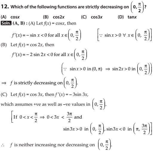 application of derivatives miscellaneous solutions