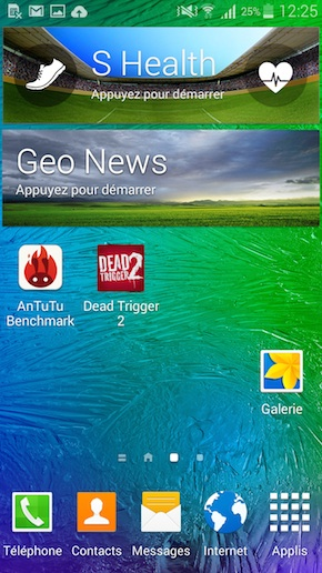 comment placer les applications sur androide galaxis s5