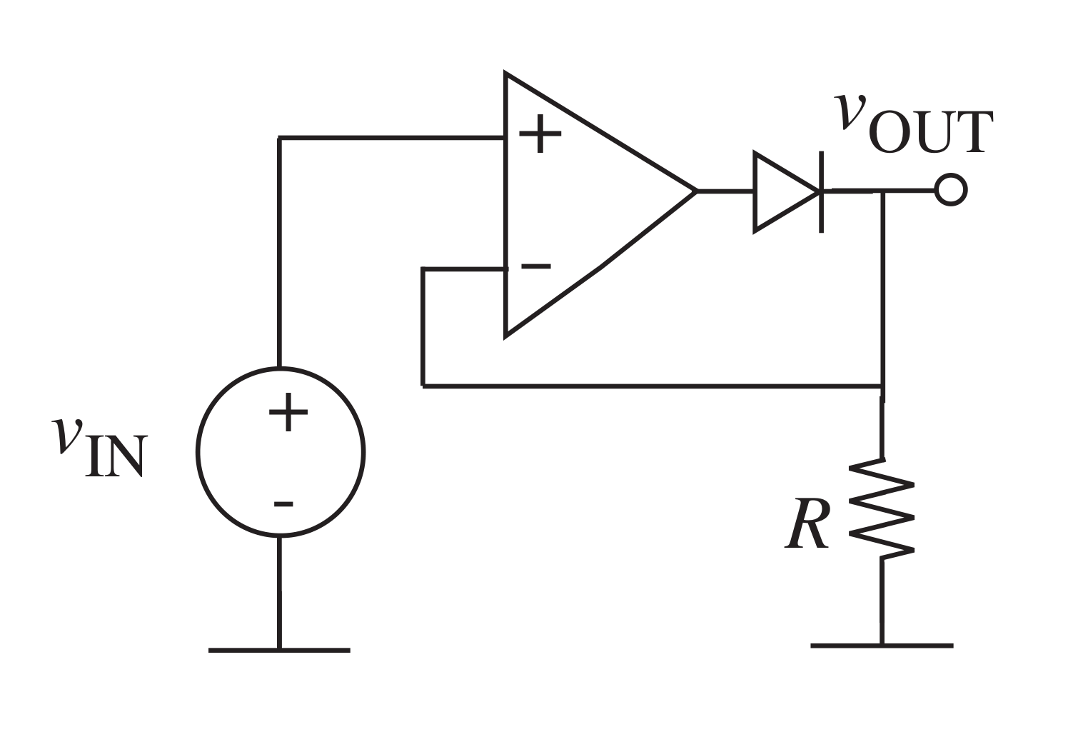 application of half wave rectifier using op amp