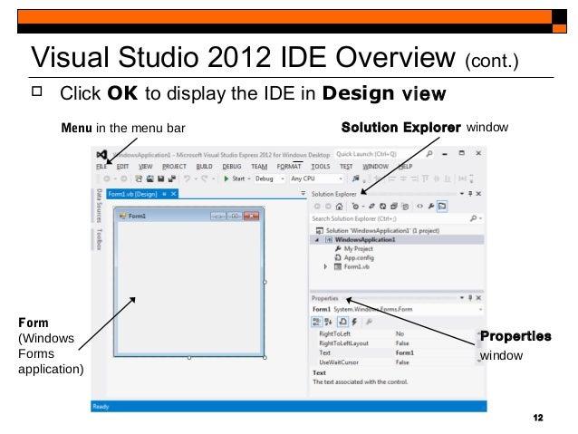 visual studio 2012 clr windows forms application