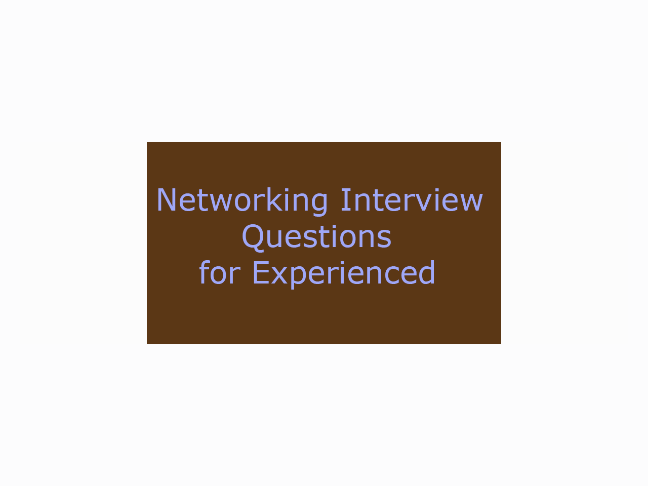 web application server interview questions and answers