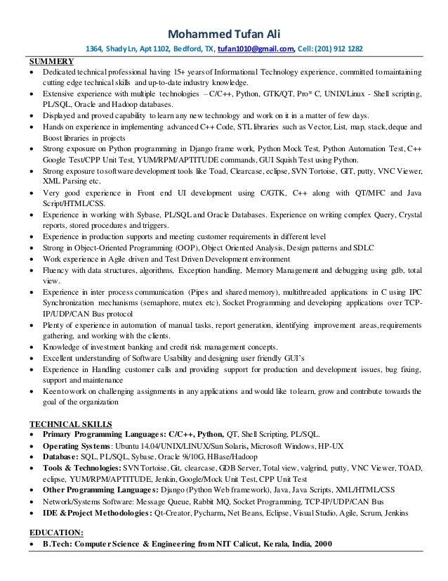 senior web application developer resume