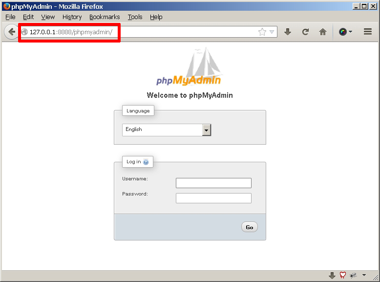 mysql application password for phpmyadmin