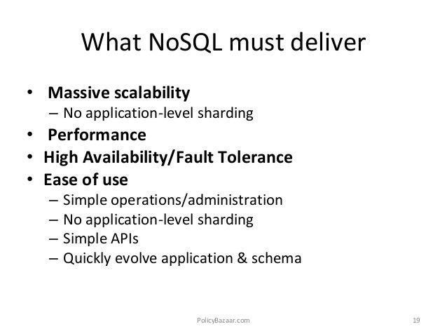 application of nosql database mongodb