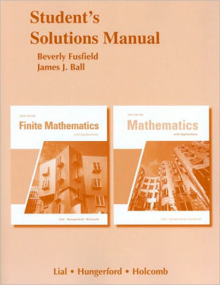 finite mathematics with applications 10th edition answers