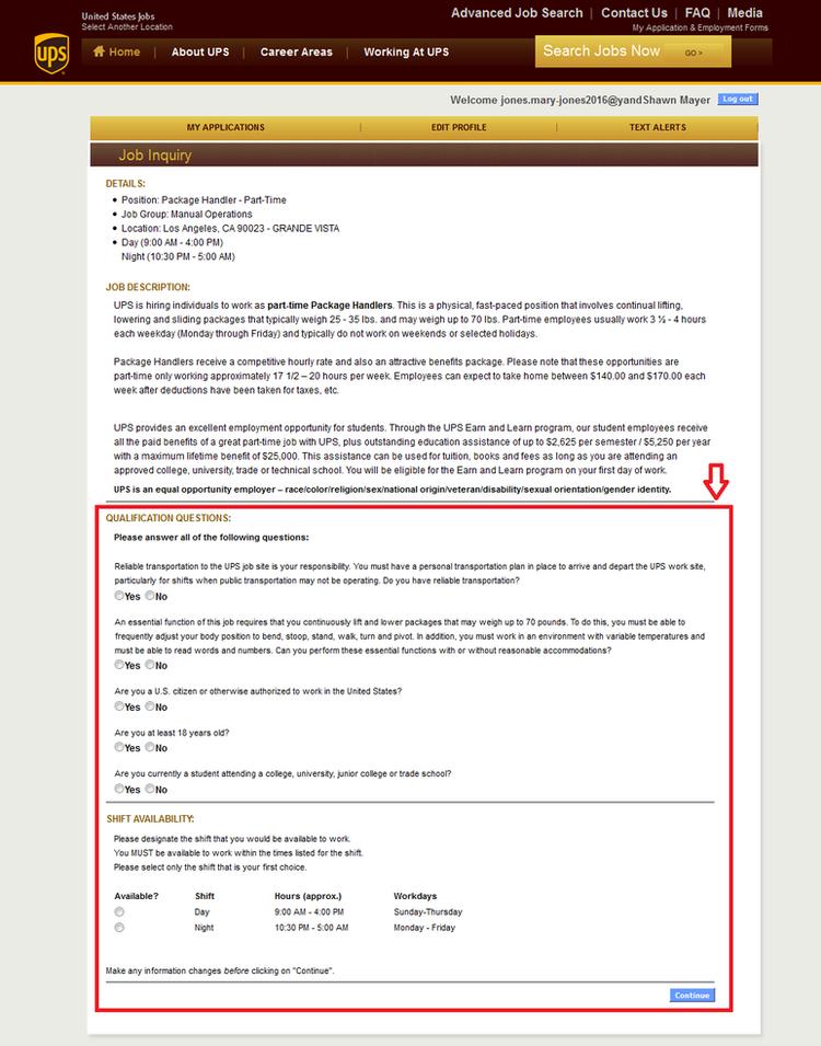 printable job application form ups