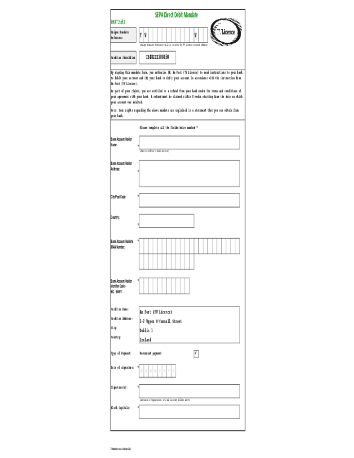 pco licence application form free download
