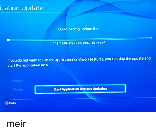 ps4 downloading application stuck 99+ hours left