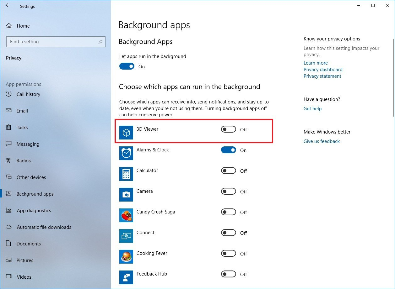 disable all unnecessary background applications