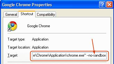 chrome application failed to start