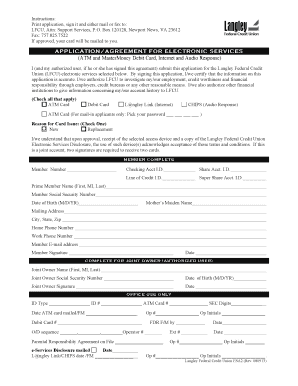 langley federal credit union application