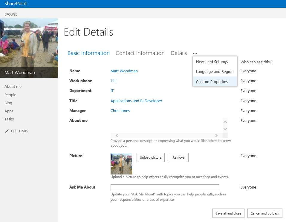sharepoint online custom application page