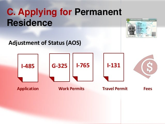 permanent resident card status of application