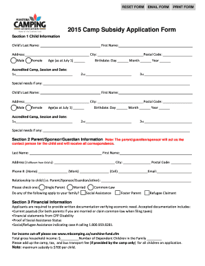 child care subsidy application form pdf