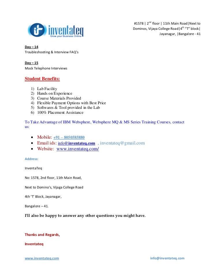 websphere application server course content