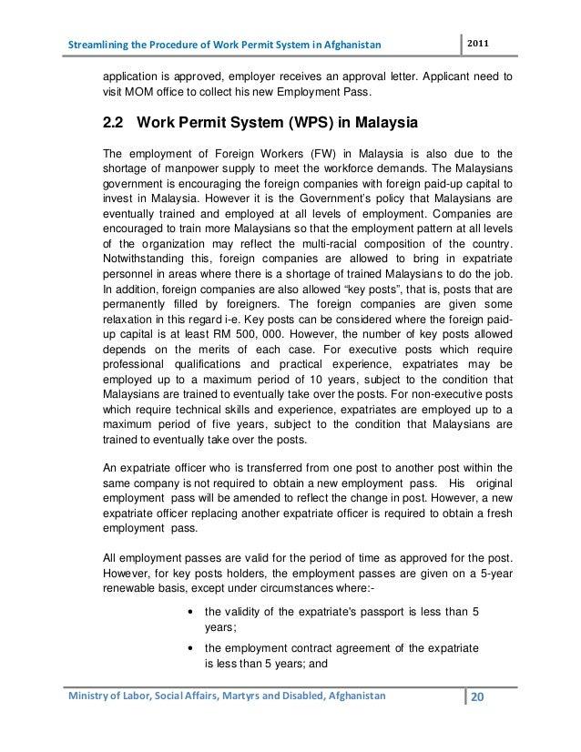 permanent resident application work permit