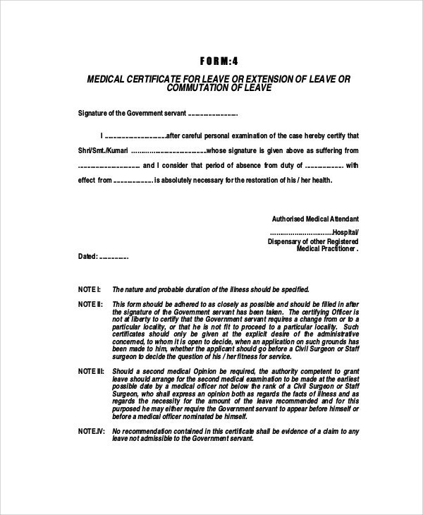 application for the extension of leave