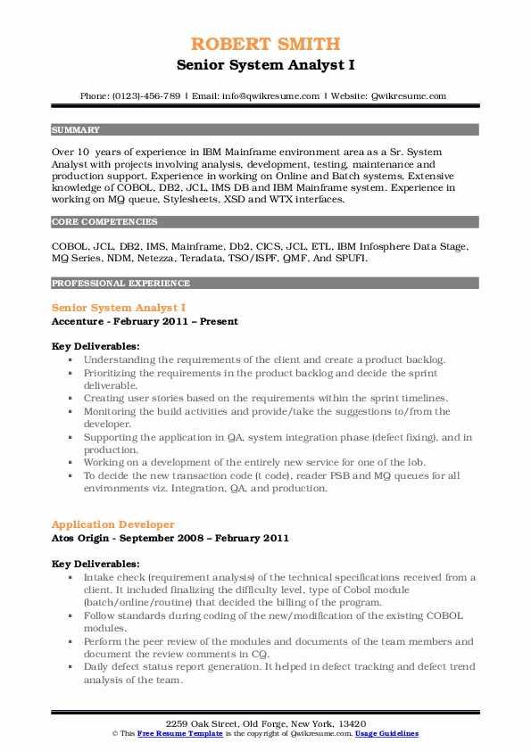 application systems analyst programmer job description
