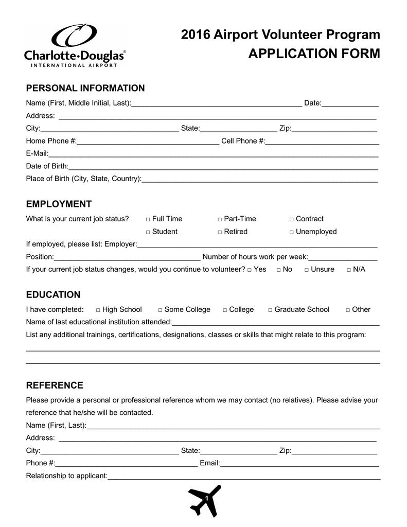 is volunteering a job on applications