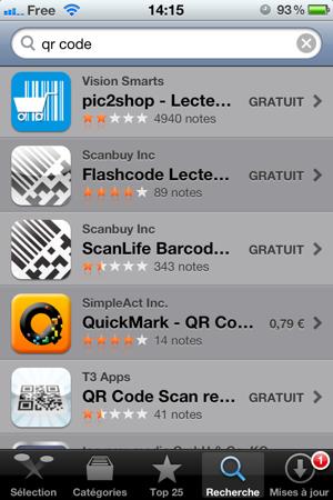 lire qr code iphone sans application
