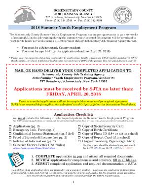 summer youth employment program dc application