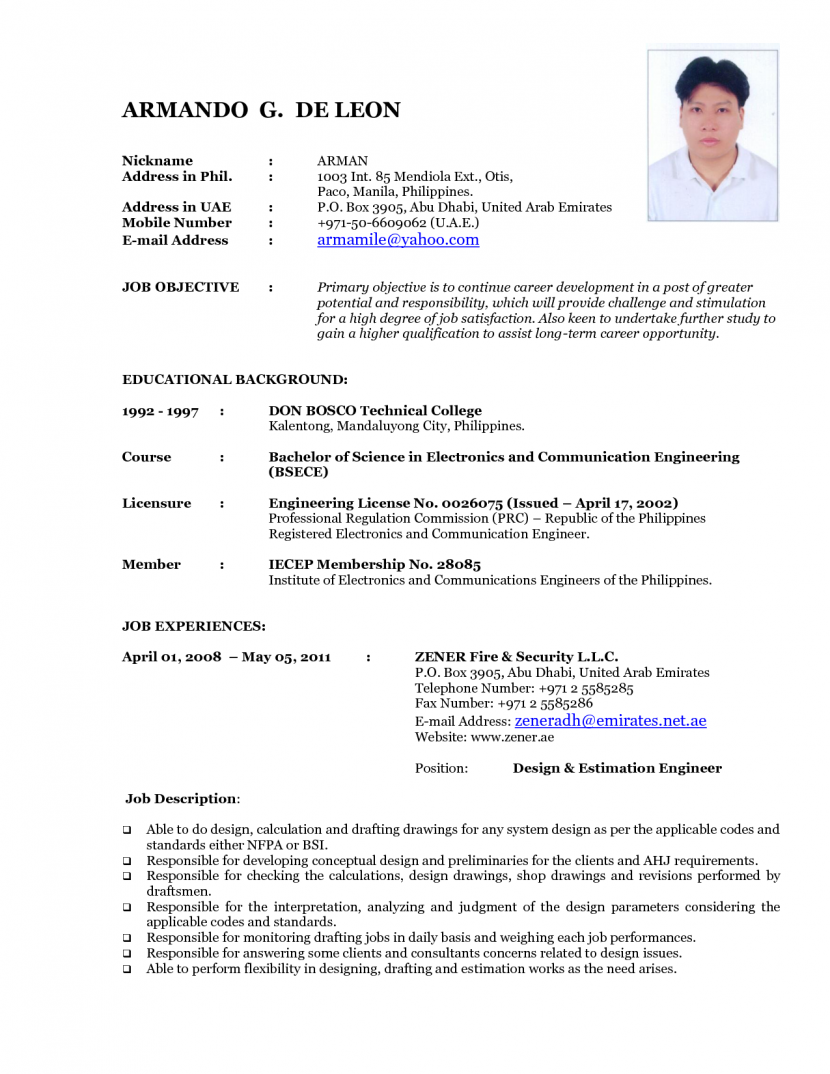 job applications what is cv