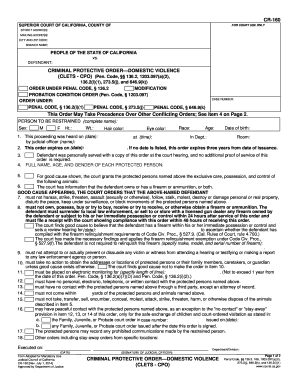 domestic violence protection order application form