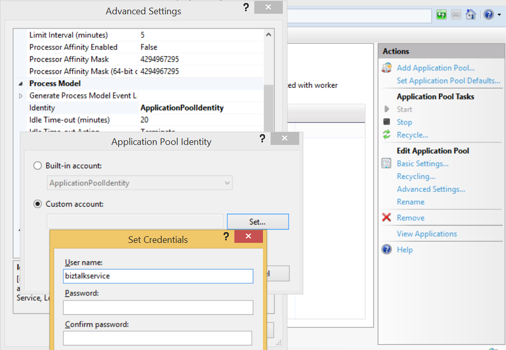 iis 10 application pool identity