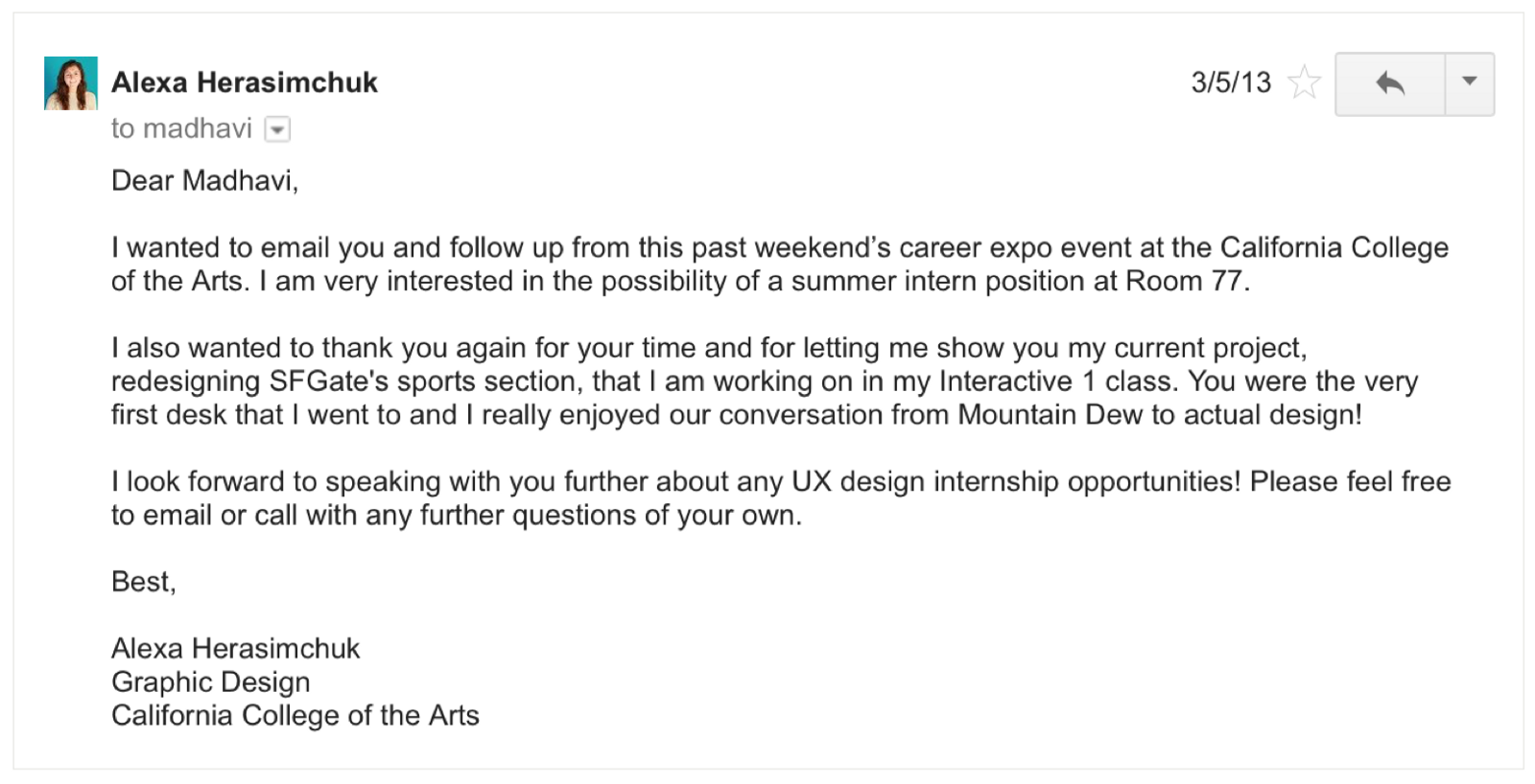 thank you for the time you in considering my application