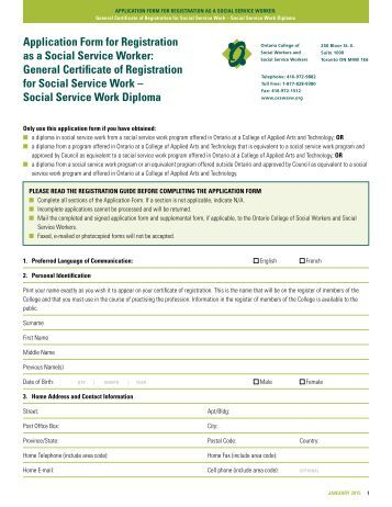 application for social assistance 901-27
