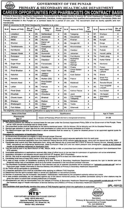 www pfa gop pk jobs application form