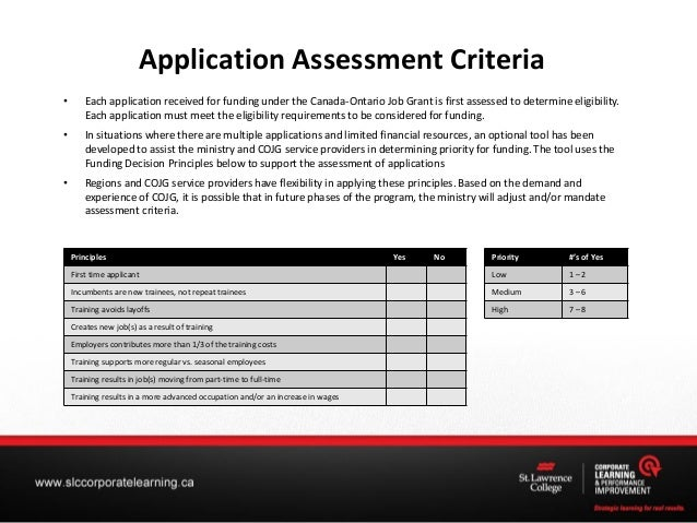 canada ontario job grant application process