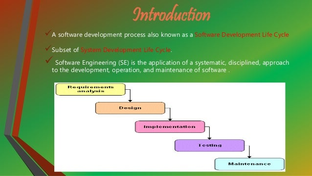 application of classical waterfall model